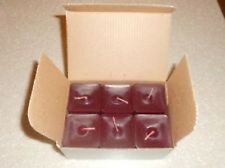 Partylite 1 box CRANBERRY SCENT PLUS SQUARE VOTIVES  6 TO A BOX  NIB