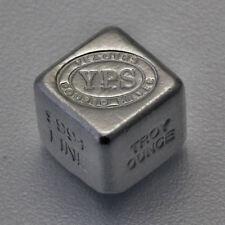 999 YPS Lingot d'argent Cube argent 1 Once Pièce unique Estampillé/Tamponné Rare