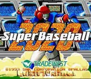Super Baseball 2020 - SNES Super Nintendo Game