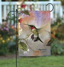 NEW Toland - Ruby Throated Honey - Flying Hummingbird Garden Flag