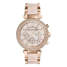 NEW MICHEAL KORS MK5896 LADIES PARKER CHRONOGRAPH DATE WATCH ROSE GOLD