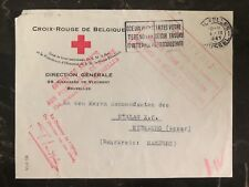 1941 Bruxelles Belgium Red Cross To Germany Prisoner POW Camp Cover Stalag 10c