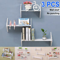 60cm Wood White Carved Wall Shelf Shelves Holder Storage Rack Stand Support Home