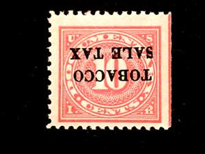 U S Stamps Scott revenue RJ4a tobacco tax inverted surcharge mint cv 15.00++