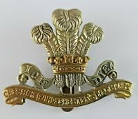 Cheshire Earl of Chesters Yeomanry Cap Badge Bi-Metal - Gaunt - Slider to Rear