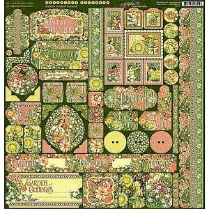 Graphic 45 Garden Goddess Collection 12 x 12 Cardstock U PICK Flowers Love Happy