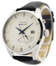 Reloj Seiko Kinetic correa SRN071P1 SRN071P hombres de cuero