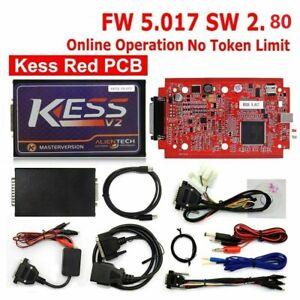 Red Car Kess V2.80 FW5.017 Ecu Tuning Full Kit Eu Master No Token Limit + 5 soft