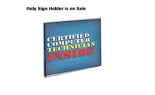 """10 - Acrylic Square Wall Mount Sign Holder w/ Magnetic Tape 5.5""""w x 5.5""""h"""