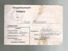 1940 Germany Stalag 12D POW Prisoner of War Postcard Cover to Krakow Poland