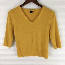 St John Womens Sweater Size M Merino Wool Silk Cashmere V Neck 3/4 Sleeve