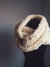 handmade hand-knit superchunky soft warm infinity scarf made from 100% wool