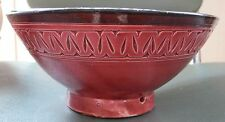 Moroccan hand-made pottery bowl.