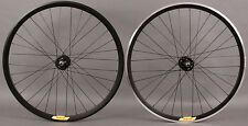 Velocity Deep V BLACK Fixed Gear Track Bike Singlespeed Wheels Wheelset DT Swiss