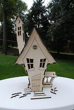 Wooden 3D Doll House Gothic Halloween Toon Haunted House Gift Kit Trick Treat