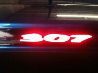 """""""YOUR NAME/LOGO"""" PUG 107 3rd BRAKE LIGHT STICKER/OVERLAY"""