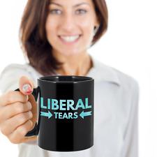 Liberal Tears - Conservative Republican Alt Right Political Coffee Mug (Black)