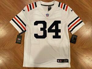 NWT Walter Payton Chicago Bears White Stitched Sewn Football Jersey Men's Medium