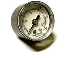 """Ashcroft 0-30 PSI Pressure Gauge 1/8"""" NPT Back Mount"""