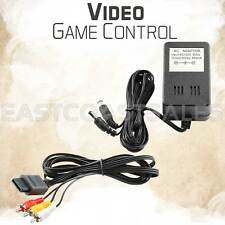Video Game AV Cable Cord + AC Power Adapter for Nintendo 64 N64 / Game Cube