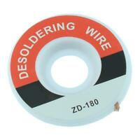 Desoldering braided Solder wick wire cord Flux BGA 2mm|2.5mm|3mm|3.5mm