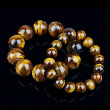 Beads 10mm Elastic Charm Mens Beads Bracelet Bangle Natural Tiger Eye Stone