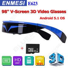 "98"" Widescreen 3D VR Video Audio Virtual Reality Glasses WiFi/BT Eyewear + 32GB"