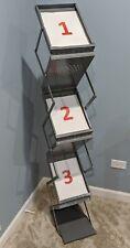 Safeco Double Sided Metal Folding Literature Magazine Display Rack 58