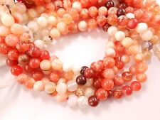 """Mexican Fire Opal Gemstone Smooth Round Beads 13"""" strand 6mm-6.5mm loose bead"""