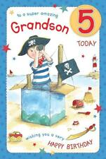 Super Amazing Pirate Grandson Age 5 Luxury 5th Birthday Card FREE 1ST CLASS POST