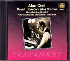 Otto KLEMPERER & Alan CIVIL MOZART Horn Concerto 1-4 MENDELSSOHN ROSSINI CD 1997