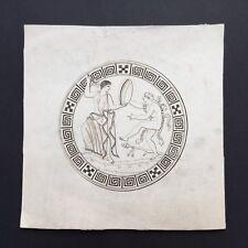 Gravure Début XIXè 1er Empire Antique Pompéi Herculanum Napoleonic Etching