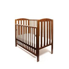 White Grey Walnut Black Antique Tobie Baby Cot Mini Cot + Spring Mattress 100x50