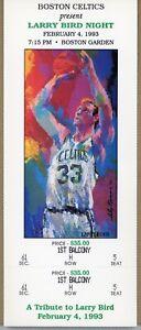 "Boston Celtics Retire #33 for Larry Bird Night 1993 Full Ticket 4 1/2"" x 11"""