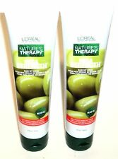 2 L'OREAL Mega Strength BLOW DRY CREME W OLIVE OIL Protects Against Heat