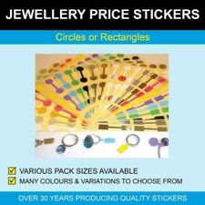 Jewellery Price Stickers - Circles or Rectangles
