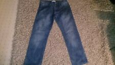 DISTRESSED STRAIGHT LEG JEANS 34 INCH WAIST