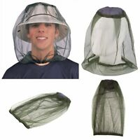 MOSQUITO INSECT MIDGE FLIES BUG MESH HEAD NET FACE PROTECTOR TRAVEL CAMPING UK