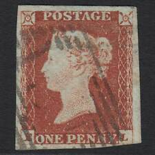 B14 GB QV 1841 1d RED-BROWN PLATE 66 (SG8) 'EL' FU EDINBURGH (131) NR 4 MARGINS
