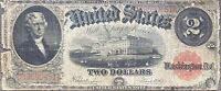 USA 1917 Banknote 2 Dollar Large Size United States Note Schein US Two $ #24305