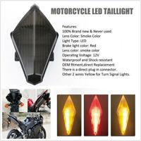 Smoke Motorcycle LED Brake Turn Signal Tail Light Fit For Yamaha YZF R1 2007-08