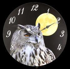 Horloge Murale Hibou Lune - Night Owl - fantastique nuit déco
