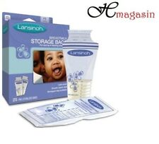 Lansinoh Baby Breast Milk Storage Bags 25 Pieces Double Pre Sterilized Zipper