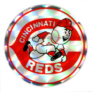 Ancien Autocollant Réflecteur MLB Baseball Cincinnati Reds Sport Kodak 1980/90