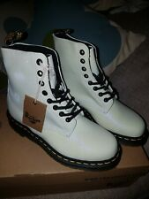 DR MARTENS PASCAL WHITE/PURPLE  GLITTER BOOTS UK5 BRAND NEW IN BOX