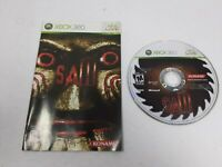 Saw Microsoft Xbox 360 Disc and Manual Only Tested