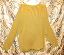 Tommy Bahama Long Sleeve Cotton Sweater Mens 2XL Extra Extra Large Green Gold