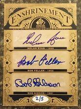 2012 SP Signature Five Auto Nolan Ryan Bob Feller Bob Gibson Ferguson Jenkins /5