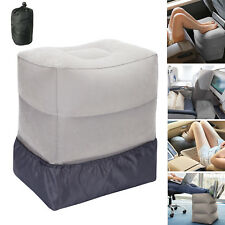 UK Inflatable Portable Travel Footrest Pillow Plane Train Kids Bed Foot Rest Pad