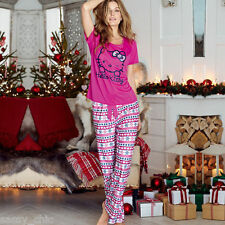 AVON Hello Kitty Fair Isle Long Leg Pyjamas size 4-6 New in Pack Ideal Gift (86)
